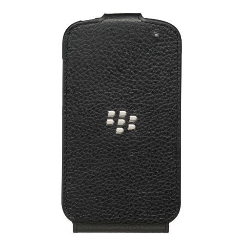 BlackBerry Leather Flip Shell for BlackBerry Q10 - Black