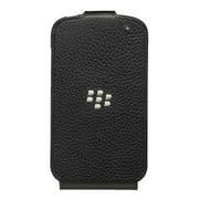 BlackBerry Leather Flip Shell for BlackBerry Q10 - Black