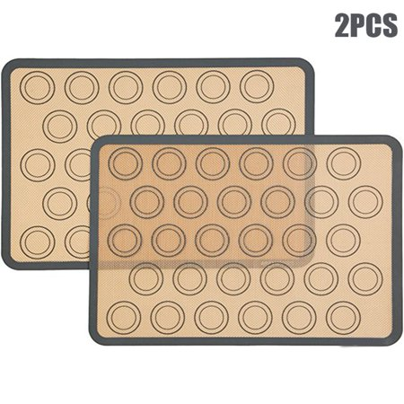 2Pcs 30-cavity Silicone Pastry Cake Macaron Macaroon Oven Baking Mould Sheet