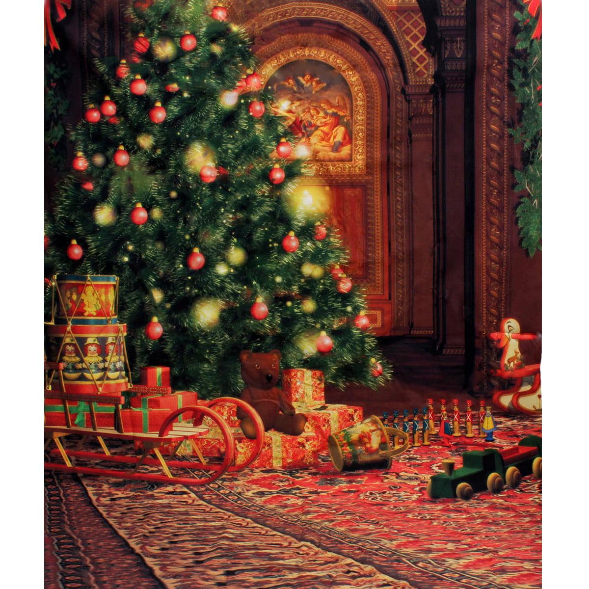 MOHOO5x7FT Christmas Tree Gift Baby Photography Backdrop ...