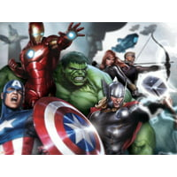 Avengers Assemble - Gallery Edition Situational Art Iron Man, Hulk, Thor and Captain America Marvel Artwork Poster Wall Art