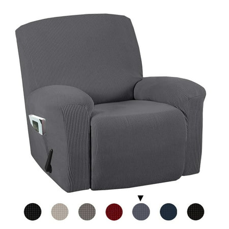 Full Coverage Stretch Recliner Chair Covers Washable Non-slip Sofa Slipcovers Waterproof Seat Cover with Side Pocket Stretch Full Slip