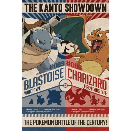Pokemon - Gaming / TV Show Poster / Print (The Kanto Showdown - Red Vs. Blue) (Size: 24
