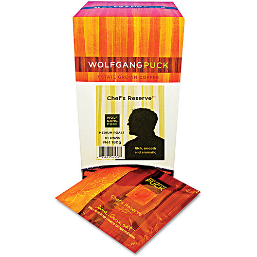Wolfgang Puck Chef's Reserve Medium Roast Coffee Pods, 18 count