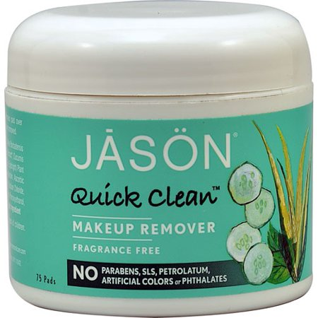Jason Quick Clean Makeup Remover Pads, Fragrance Free, 75 Ct