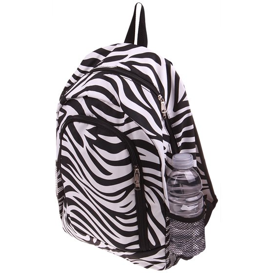 d2de18ac3b Enimay Printed School Backpack Classic Water Resistant Travel Backpack Grey  And White Chevron - Walmart.com