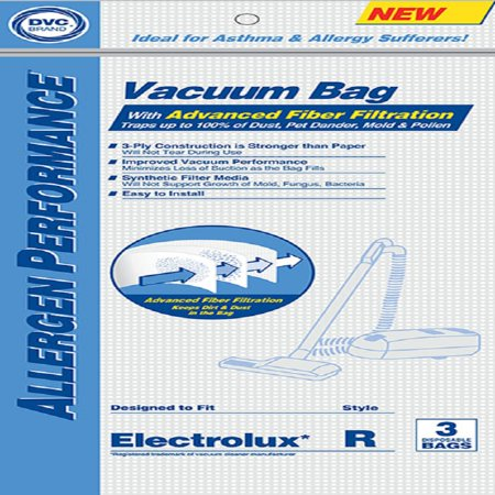 Electrolux Replacement Paper Bag DVC Style R Synthetic 3 Pack - image 1 de 1
