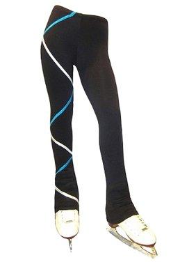 Ice Fire Skate Wear Black Turquoise Silver Criss Cross Pants Girl 4-20