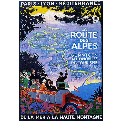 "Trademark Fine Art ""La Route des Alpes"" Canvas Art by Roger Broders"