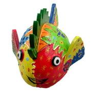 Stoneage Arts Colorful Coconut Fish Decorative Art, Handmade in Indonesia