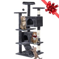 "51"" Cat Tree Tower Condo Furniture Scratching Post Pet Kitty Play House (Various Colors)"