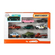 Matchbox 9-Pack Vehicles, Collection Of 1:64 Scale Cars For Kids 3 Years Old & Up (Styles May Vary)
