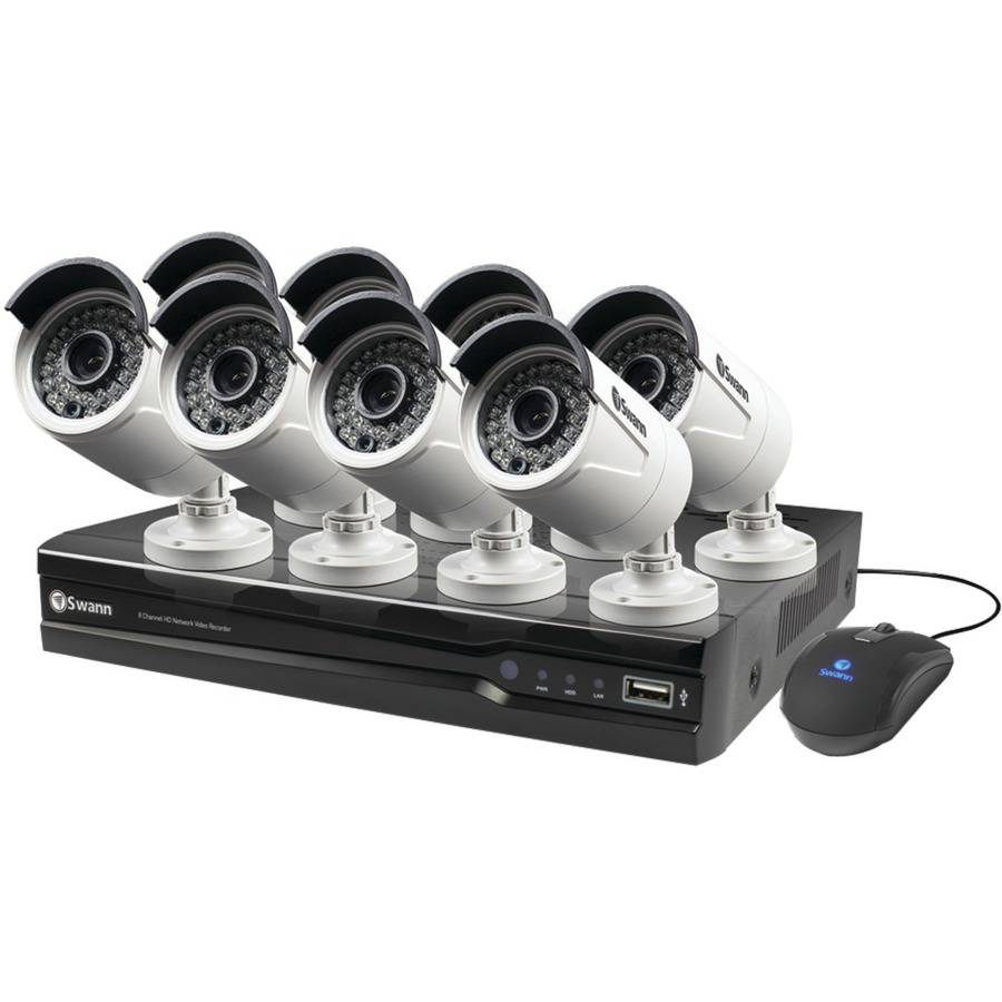 Swann SWNVK-873008-US 8-Channel 1080p NVR with 8 Security Cameras
