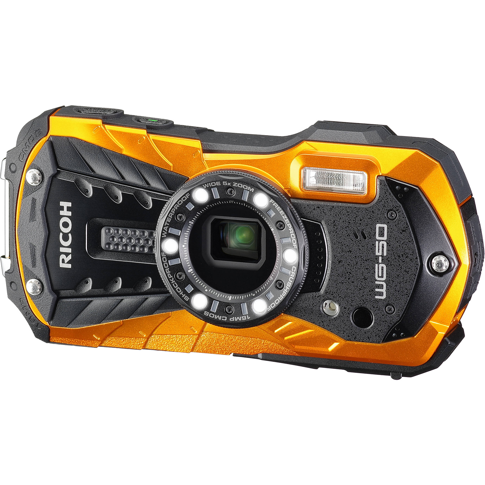 Ricoh WG-50 Waterproof / Shockproof Digital Camera (Orange)