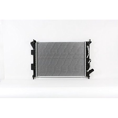Radiator - Cooling Direct For/Fit 13414 14-19 Kia Soul 1.6L/2.0L Automatic Transmission Plastic Tank Aluminum Core 1-Row w/Transmission Oil Cooler Aluminum Finned Transmission Cooler