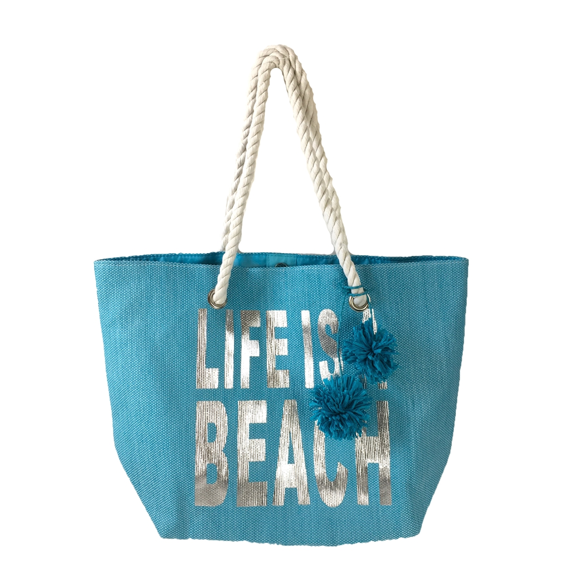 Magid 'Life is a Beach' Tote Beach Bag, Aqua