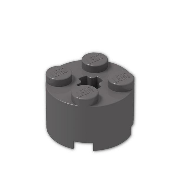 LEGO® White Brick Round 2 x 2 with Axle Hole Design ID 3941