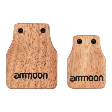 ammoon Large & Medium 2pcs Cajon Box Drum Accessory Castanets for Hand Percussion Instruments - image 5 of 7