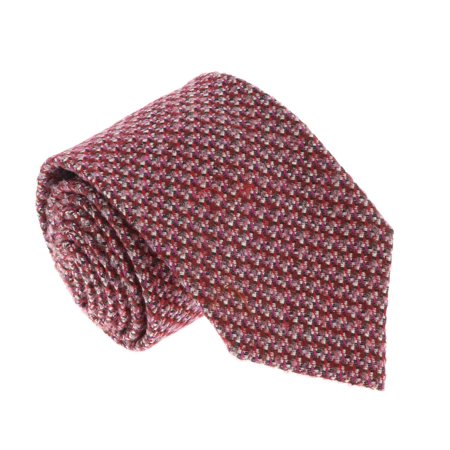 U5089 Pink/Red Basketweave 100% Silk Tie