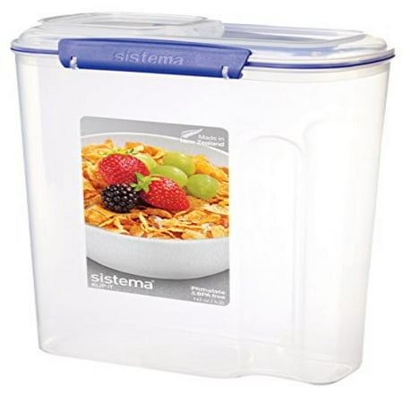 Eco Collection Cereal - Sistema Klip It Collection Cereal Food Storage Container, 142 Ounce/17.75 Cup