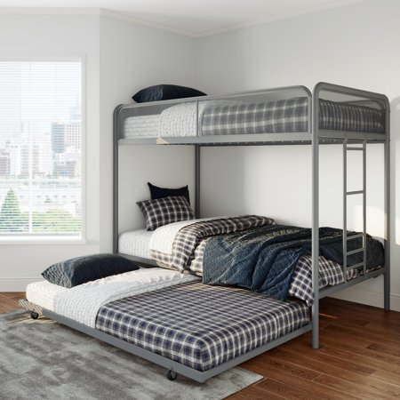 Dhp Ezra Twin Metal Bunk Bed With Trundle Multiple Colors