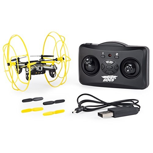 Air Hogs Hyper Stunt Drone Unstoppable Micro RC Drone Yellow by SPIN MASTER
