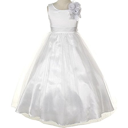 Communion Flower Girl Dress Collection from Cinderella for Big Girl White 10 CC 1111](Cinderella Communion Dresses)