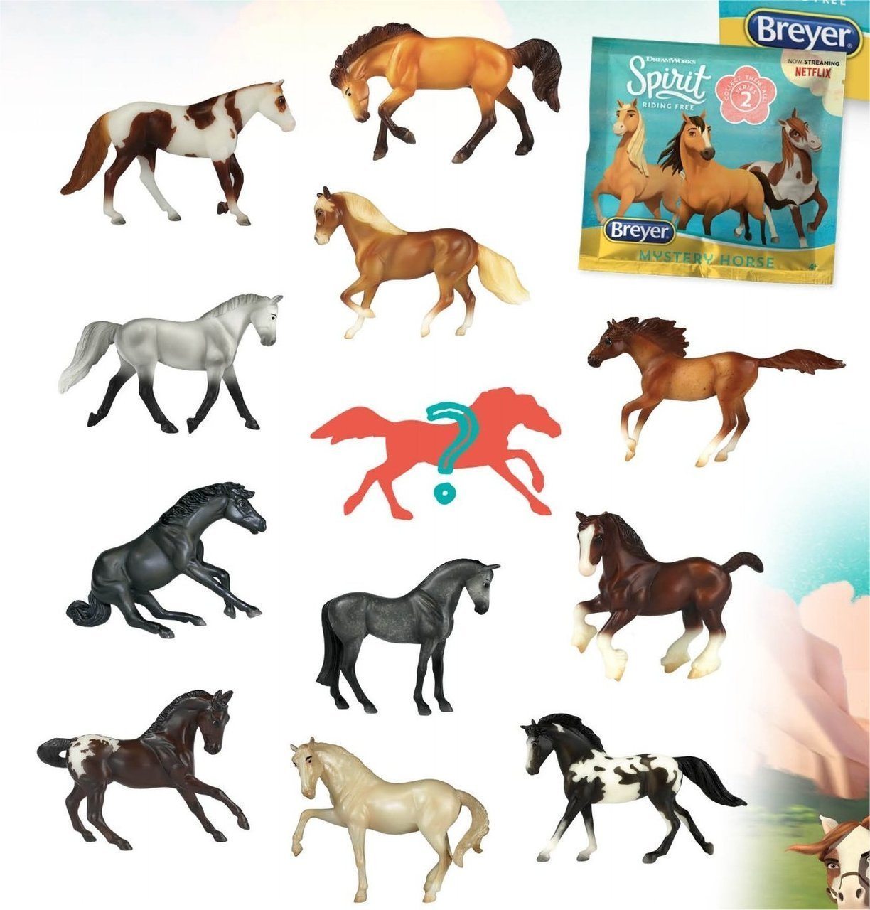 Breyer Spirit Riding Free Blind Bag 1:32 Model Horse, Series 2: One Random