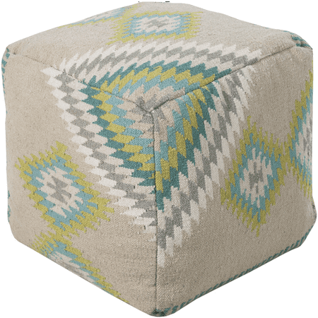 Sensational 18 Light Gray Lime Green Beige And Teal Diamond Stitched Wool Square Pouf Ottoman Forskolin Free Trial Chair Design Images Forskolin Free Trialorg