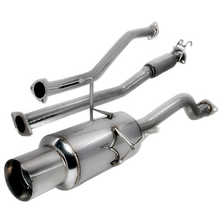 Honda Civic Cat Back Exhaust (Spec-D Tuning 2001-2005 Honda Civic Ex Exhaust Catback 2002 2003 2004 01 02 03 04)