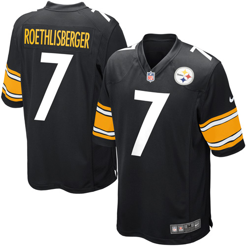Ben Roethlisberger Pittsburgh Steelers Nike Youth Team Color Game Jersey - Black