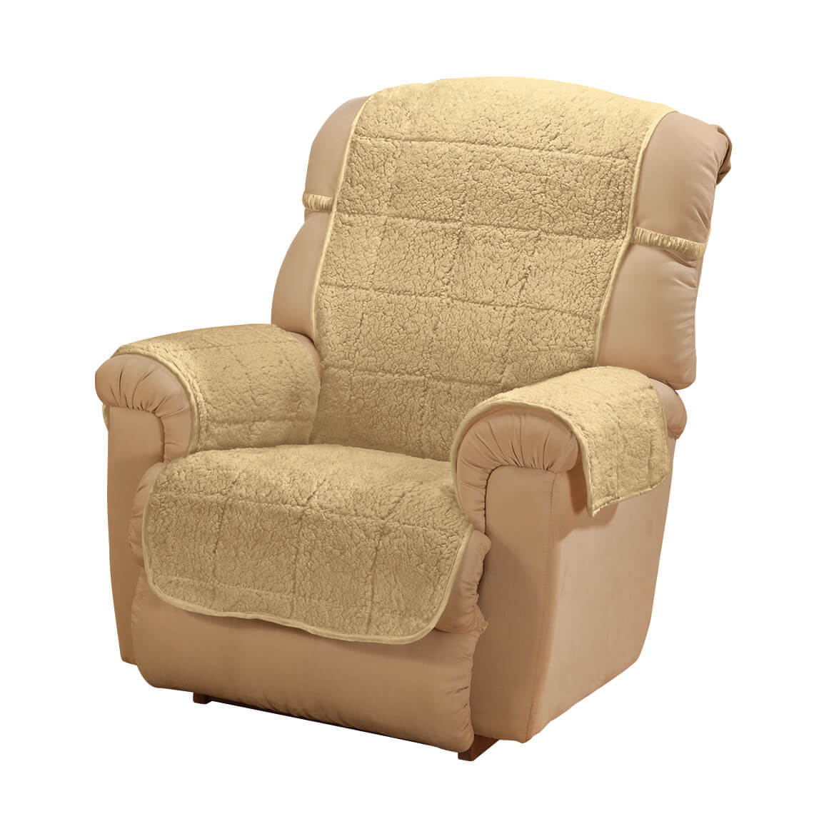 Parker Sherpa Recliner Cover By Oakridge Camel Water Resistant Polyester 48 X 23 Back Cover 30 5 X 23 Seat Cover 2 Arm Covers Of 21 X 16