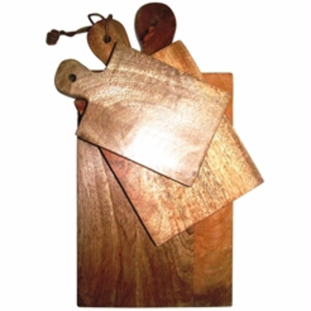 Classic Wooden Cutting Boards, Brown, Set Of 3