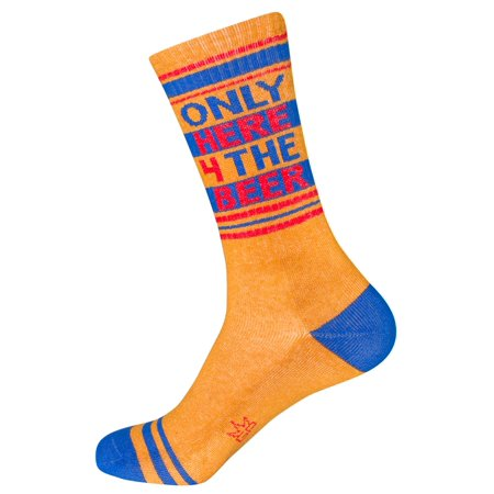 Only Here 4 The Beer Ribbed Gym Socks in Gold, Royal Blue and Red - Gold And Royal Blue