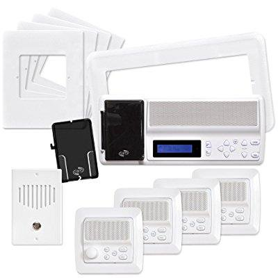 Intrasonic Technology RETRO-MV4PAC IST Retro Music & Intercom System Package, White