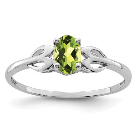 925 Sterling Silver Green Peridot Band Ring Size 9.00 Set Birthstone August Gemstone Gifts For Women For Her