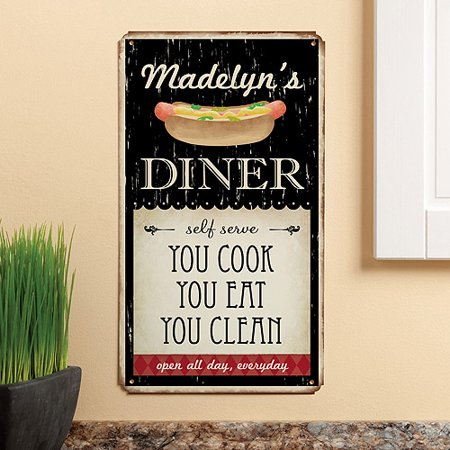 Personalized My Diner Tin - 1950s Diner Decor