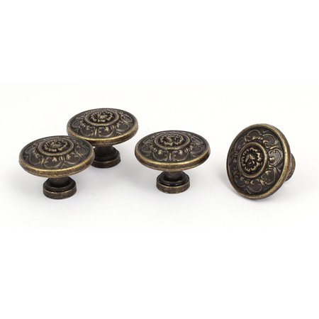 Furniture Cupboard Metal Vintage Style Round Pull Handle Knobs 29mmx21mm 4pcs - image 4 of 4