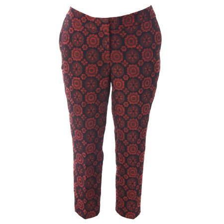 BODEN Women's Net Style Bistro Crop Trousers Red/Black