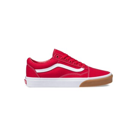 223ea312ee Vans - Vans VN-0A38G1UK1  Mens Gum Bumper Red True White Old Skool Checker  Sneakers (8 D(M) US Men) - Walmart.com