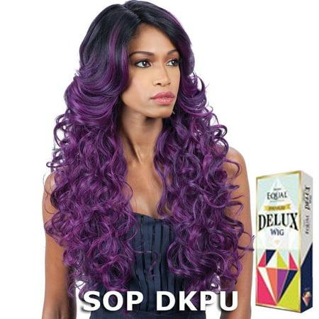 freetress equal premium delux hair wig - sabella (1 jet black) (Jet Black Wig)