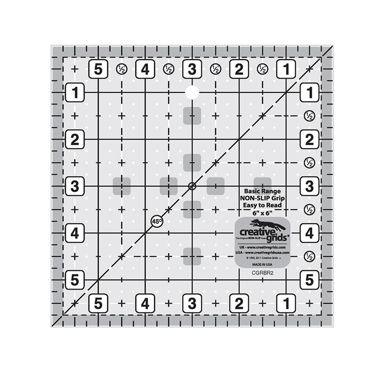 "Creative Grids Basic Range 6"" Square Ruler"