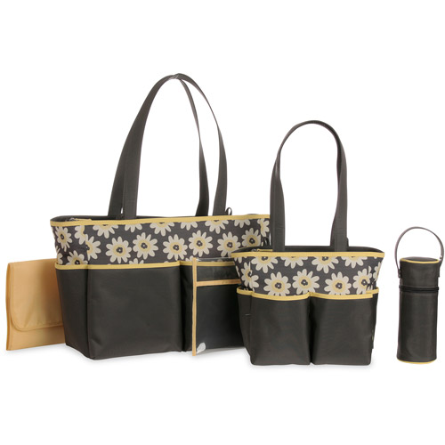 Baby Boom 5-Piece Diaper Bag Set, Floral Print