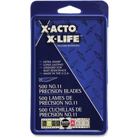 Elmers X-acto Refill Blades (X-Acto, EPIX511, No.11 Classic Fine Pnt X-Life Refill Blade, 500 / Box, Silver)