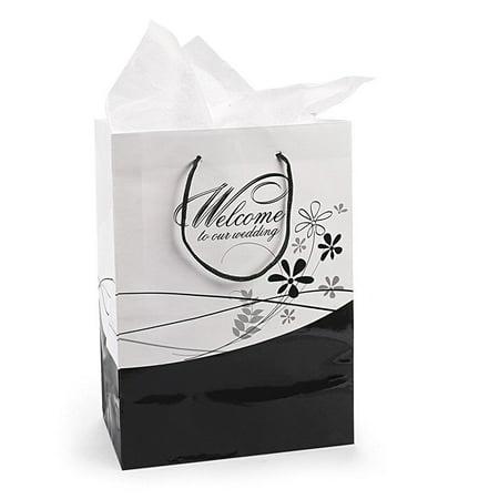 Fun Express Medium Welcome To Our Wedding Gift Bags (1 Dozen) - Wedding Welcome Bag