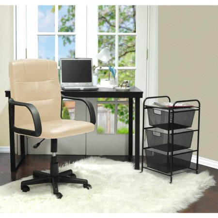 Mainstays Tufted Leather Mid Back Chair  Multiple Colors   Walmart com. Mid Back Office Chair Mainstays. Home Design Ideas