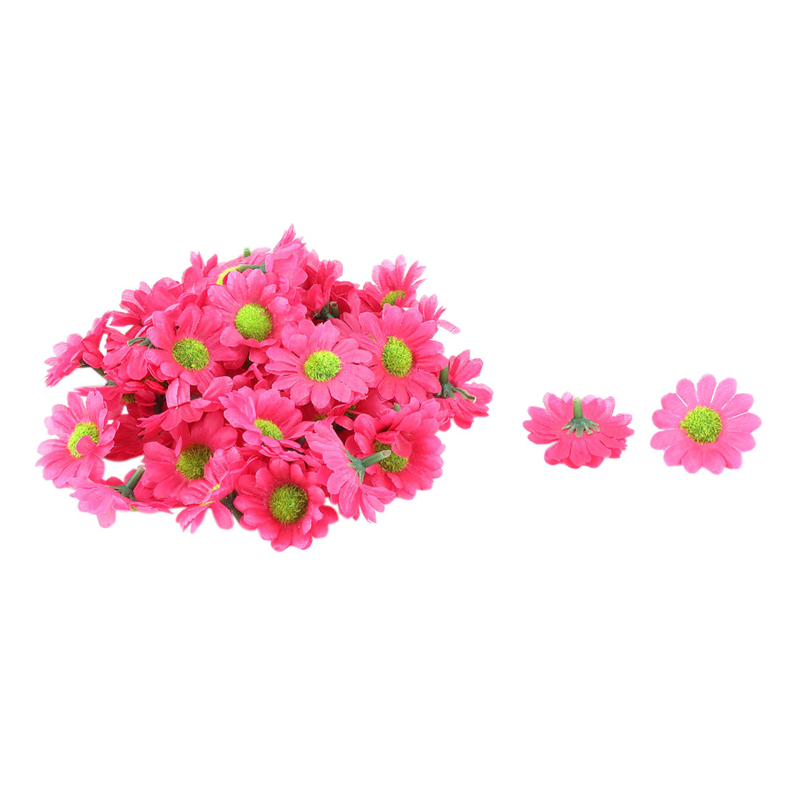 Bride Wedding Fabric Artificial Flower Head Headband Garland Decor Fuchsia  50pcs 27c1d7267f7