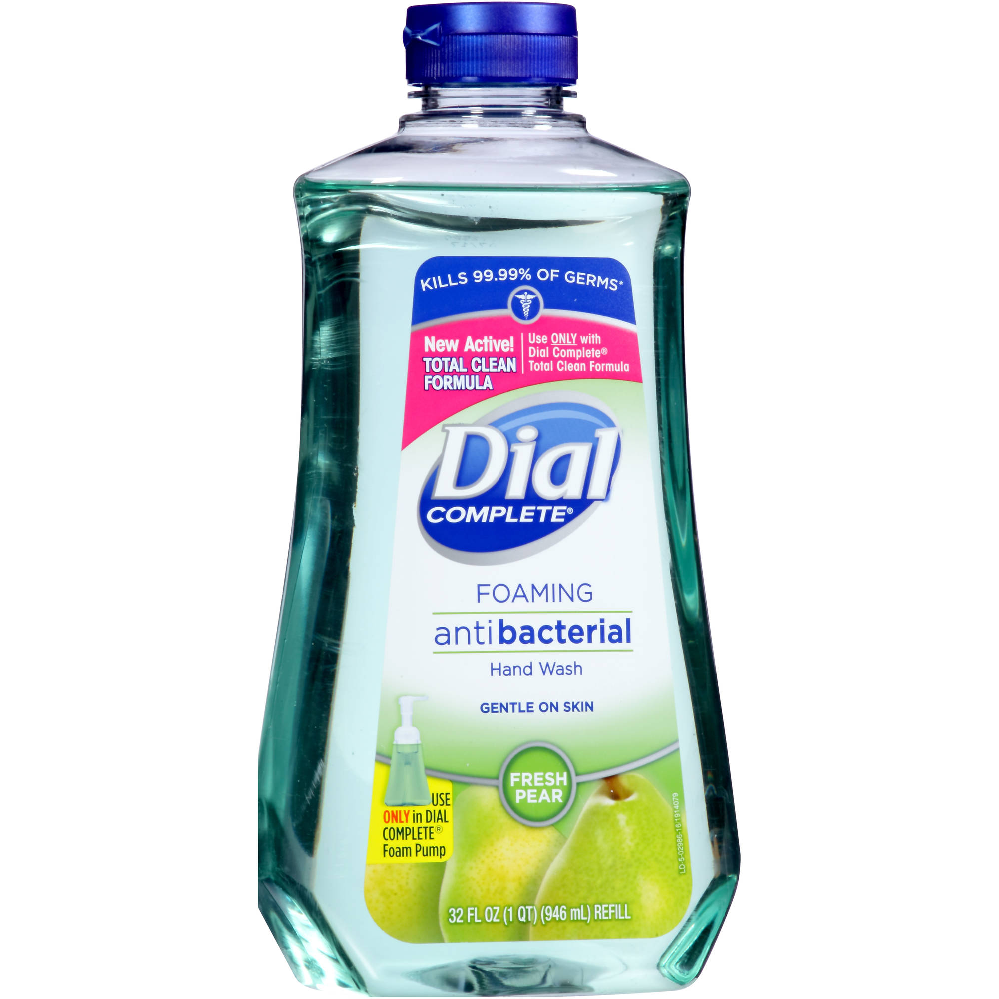 Dial Complete Fresh Pear Antibacterial With Lotion Foaming Hand Wash Refill, 32 fl oz