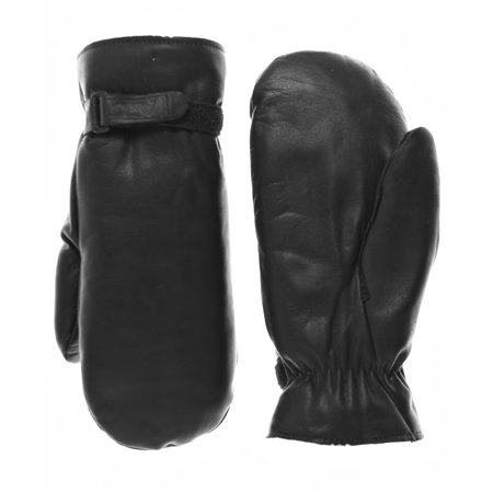 Raber Gloves Men's Winter Cowhide Leather Mittens