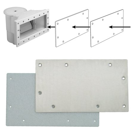 Swim-N-Play Stainless Steel Faceplate for Widemouth Skimmer for Above Ground Pools
